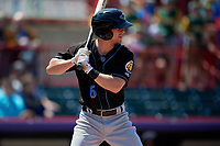 Akron RubberDucks Ernie Clement (6) at bat during an Eastern League game against the Erie SeaWolves on June 2, 2019 at UPMC Park in Erie, Pennsylvania.  Erie defeated Akron 8-5 in eleven innings of the second game of a doubleheader.  (Mike Janes/Four Seam Images)