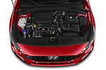 Car Stock 2020 Hyundai i30 Sky-Line 5 Door Wagon Engine  high angle detail view