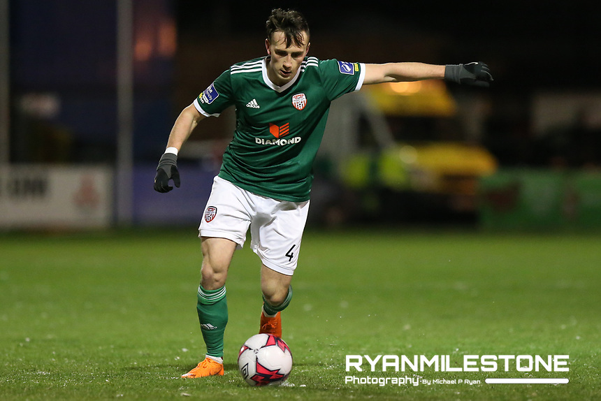 Aaron McEneff of Derry during the SSE Airtricity League Premier Division game between Bohemians and Derry City on Tuesday 27th February 2018 at Dalymount Park, Dublin. Photo By: Michael P Ryan