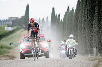 """Roger Kluge (DEU/Lotto Soudal) over the final gravel sector<br /> <br /> 104th Giro d'Italia 2021 (2.UWT)<br /> Stage 11 from Perugia to Montalcino (162km)<br /> """"the Strade Bianche stage""""<br /> <br /> ©kramon"""