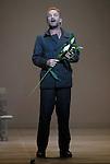 WELCOME TO THE VOICE - Steve Nieve..Théâtre du Chatelet - Paris..15 november 2008....Dionysos - Sting....Choreographer : LARRIEU Daniel..Director : TEODORI Muriel..Compositeur : NIEVE Steve..Orchestre : Ensemble Orchestral de Paris Choeur du Chatelet..Designer : ARNOULD Bernard..Lighting Designer : ROUVEYROLLIS Jacques..Costume designer : DE VIVAISE Caroline ....Credit : Laurent Paillier / photosdedanse.com<br /> All rights reserved