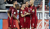 San Jose, CA - March 24, 2017: The U.S. Men's National team go up 6-0 over Honduras with Christian Pulisic, Michael Bradley and Clint Dempsey contributing goals during their 2018 FIFA World Cup Qualifying Hexagonal match at Avaya Stadium.