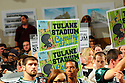 Tulane University faces City Council about stadium. City Council voted 4 to 2 in favor of interim zoning resolution...