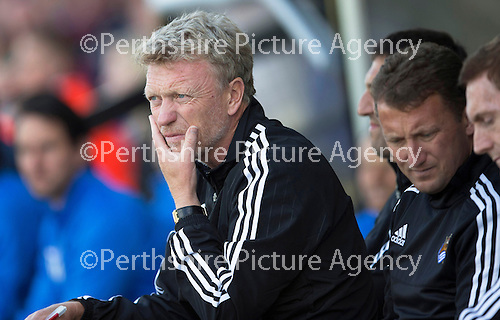 St Johnstone v Real Sociadad...12.07.15  Bayview, Methil (Home of East Fife FC)<br /> A thoughtful David Moyes<br /> Picture by Graeme Hart.<br /> Copyright Perthshire Picture Agency<br /> Tel: 01738 623350  Mobile: 07990 594431