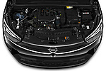 Car Stock 2021 Opel Crossland Edition 5 Door SUV Engine  high angle detail view