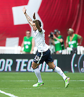Jermaine Jones (13) of the USMNT celebrates a goal during the game at RFK Stadium in Washington DC.  The USMNT defeated Germany, 4-3, in a friendly match.
