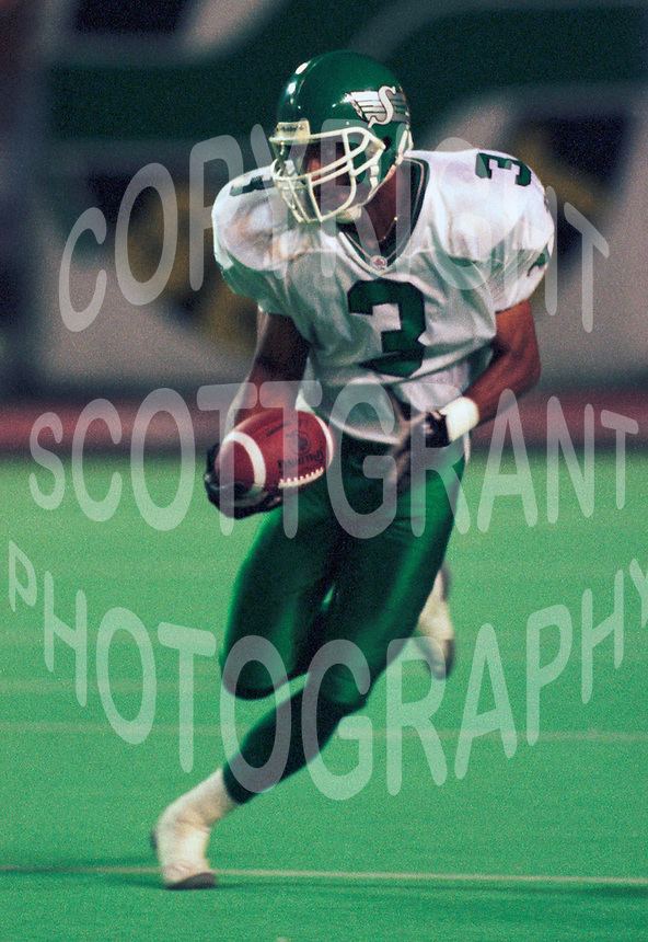 Barry Wilburn Saskatchewan Roughriders 1993. Photo F. Scott Grant