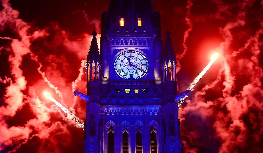 Fireworks light up behind the Peace Tower during the evening ceremonies of Canada's 150th anniversary of Confederation, in Ottawa on Saturday, July 1, 2017. The Canadian Press/Sean Kilpatrick