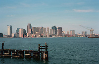 Boston:  the piers of Boston from Logan Airport.  Photo '88.
