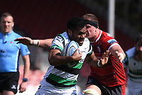 24th April 2021; Kingsholm Stadium, Gloucester, Gloucestershire, England; English Premiership Rugby, Gloucester versus Newcastle Falcons; Alex Craig of Gloucester tackles George Wacokecoke of Newcastle Falcons