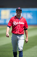 Tacoma Rainiers left fielder John Andreoli (2) before a Pacific Coast League against the Sacramento RiverCats at Raley Field on May 15, 2018 in Sacramento, California. Tacoma defeated Sacramento 8-5. (Zachary Lucy/Four Seam Images)