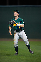 Siena Saints right fielder Fred Smart (32) during a game against the Stetson Hatters on February 23, 2016 at Melching Field at Conrad Park in DeLand, Florida.  Stetson defeated Siena 5-3.  (Mike Janes/Four Seam Images)