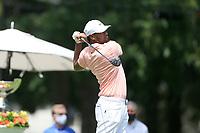 4th September 2020, Atlanta GA, USA;  Tony Finau tees off during the first round of the TOUR Championship  at the East Lake Golf Club in Atlanta, GA.