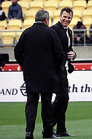 All Blacks head coach Ian Foster with assistant Brad Mooar (right) during the Bledisloe Cup rugby union match between the New Zealand All Blacks and Australia Wallabies at Sky Stadium in Wellington, New Zealand on Sunday, 11 October 2020. Photo: Dave Lintott / lintottphoto.co.nz