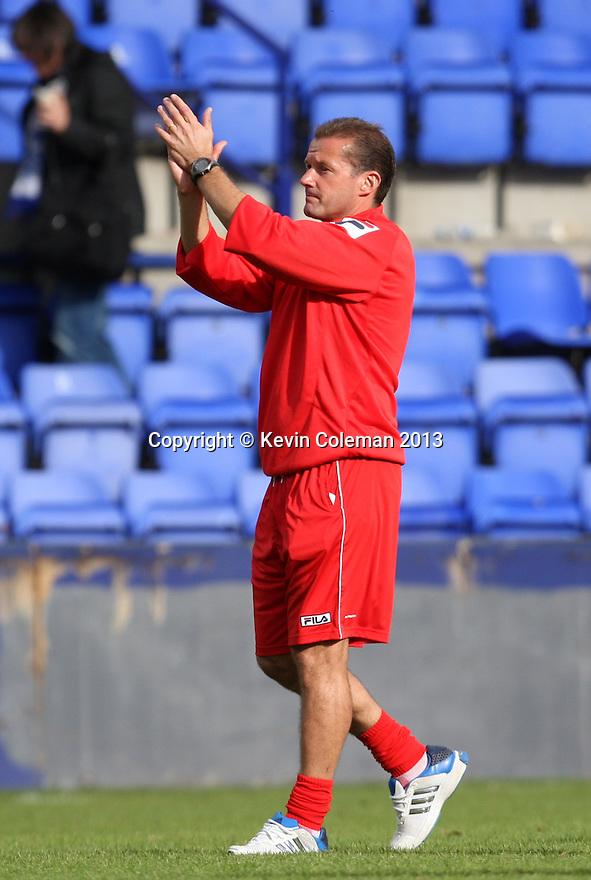 Stevenage manager Graham Westley applauds the fans at the end of the match<br />  - Tranmere Rovers v Stevenage - Sky Bet League One - Prenton Park, Birkenhead - 7th September 2013. <br /> © Kevin Coleman 2013