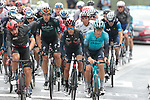 The peloton including Thomas De Gendt (BEL) Lotto Soudal, Jakob Fuglsang (DEN) Astana-Premier Tech, Richie Porte (AUS) Ineos Grenadiers and Daniel Oss (ITA) Bora-Hansgrohe crosses the finish line at the end of Stage 16 of the 2021 Tour de France, running 169km from Pas de la Case to Saint-Gaudens, Andorra. 13th July 2021.  <br /> Picture: Colin Flockton   Cyclefile<br /> <br /> All photos usage must carry mandatory copyright credit (© Cyclefile   Colin Flockton)