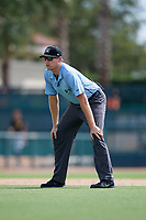 Umpire Trevor Dannegger during a Florida Instructional League game against the Baltimore Orioles on September 22, 2018 at Ed Smith Stadium in Sarasota, Florida.  (Mike Janes/Four Seam Images)