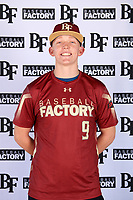 Gavin Maloney (9) of New Mexico Military Institute in Roswell, New Mexico during the Baseball Factory All-America Pre-Season Tournament, powered by Under Armour, on January 12, 2018 at Sloan Park Complex in Mesa, Arizona.  (Mike Janes/Four Seam Images)