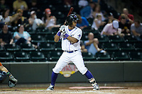 Winston-Salem Dash Louis Silverio (15) at bat against the Buies Creek Astros at BB&T Ballpark on April 15, 2017 in Winston-Salem, North Carolina.  The Astros defeated the Dash 13-6.  (Brian Westerholt/Four Seam Images)