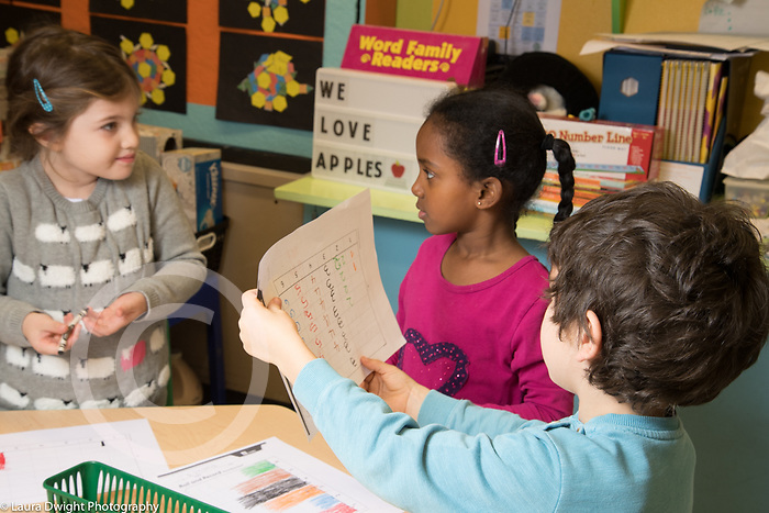Public elementary school for gifted children grades K-6: students in classroom grade 1 or grade 2