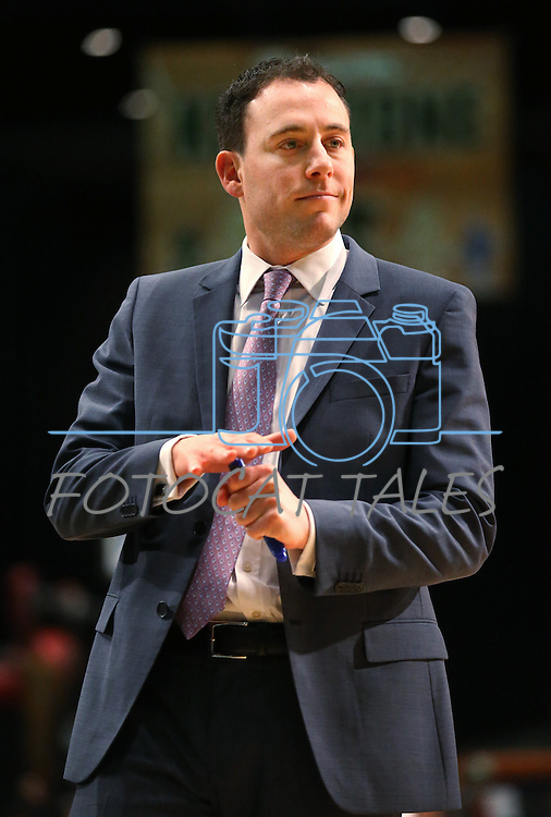 Reno Bighorns Head Coach Joel Abelson during a D-League basketball game against the Bakersfield Jam in Reno, Nev., on Tuesday, Jan. 14, 2014. The Bighorns won 93-85.<br /> Photo by Cathleen Allison