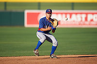 AZL Rangers shortstop Cody Freeman (33) during an Arizona League game against the AZL Athletics Gold on July 15, 2019 at Hohokam Stadium in Mesa, Arizona. The AZL Athletics Gold defeated the AZL Rangers 9-8 in 11 innings. (Zachary Lucy/Four Seam Images)