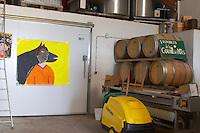 Domaine Coume del Mas. Banyuls-sur-Mer. Roussillon. Barrel cellar. France. Europe.
