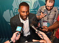 MIAMI BEACH, FL - JANUARY 28: Michael Vick attends the Fox Sports Media Day during Super Bowl LIV week on January 28, 2020 in Miami Beach, Florida. (Photo by Frank Micelotta/Fox Sports/PictureGroup)