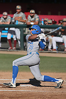 Noah Cardenas (25) of the UCLA Bruins bats against the USC Trojans at Dedeaux Field on March 28, 2021 in Los Angeles, California. UCLA defeated USC, 13-1. (Larry Goren/Four Seam Images)