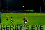 Cathal Moriarty, Mid Kerry in action against Fionn Fitzgerald, Dr. Crokes  during the Kerry County Senior Football Championship Semi-Final match between Mid Kerry and Dr Crokes at Austin Stack Park in Tralee, Kerry.