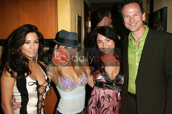 """Yvette Lopez and E.G. Daily with Lindsey Labrum and Harry Paul<br />at a birthday party for E.G. Daily, Lindsey Labrum and Yvette Lopez, benefitting """"Last Chance for Animals"""". Private Location, Los Angeles, CA 09-02-06<br />Dave Edwards/DailyCeleb.com 818-249-4998"""