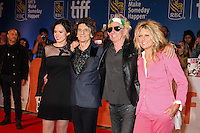 RON WOOD AND HIS WIFE SALLY HUMPHREYS WITH KEITH RICHARDS AND HIS WIFE PATTI HANSEN - RED CARPET OF THE FILM 'THE ROLLING STONES OLE OLE OLE! : A TRIP ACROSS LATIN AMERICA' - 41ST TORONTO INTERNATIONAL FILM FESTIVAL 2016 IN TORONTO, 16/09/2016. # FESTIVAL INTERNATIONAL DU FILM DE TORONTO 2016