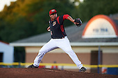Batavia Muckdogs starting pitcher Javier Garcia (36) during a game against the Williamsport Crosscutters on September 2, 2016 at Dwyer Stadium in Batavia, New York.  Williamsport defeated Batavia 9-1. (Mike Janes/Four Seam Images)