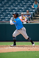 Akron RubberDucks Wilson Garcia (11) at bat during an Eastern League game against the Bowie Baysox on May 30, 2019 at Prince George's Stadium in Bowie, Maryland.  Akron defeated Bowie 9-5.  (Mike Janes/Four Seam Images)