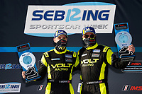 #7: VOLT Racing with Archangel Ligier JS P320, P3-1: Trent Hindman, Alan Brynjolfsson, podium