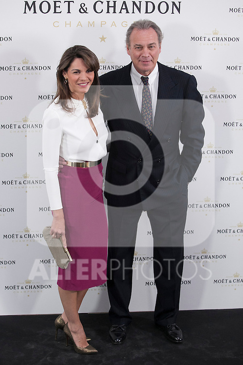 Bertin Osborne and Fabiola Martinez pose during Moet & Chandon event in Madrid, Spain. May 05, 2015. (ALTERPHOTOS/Victor Blanco)