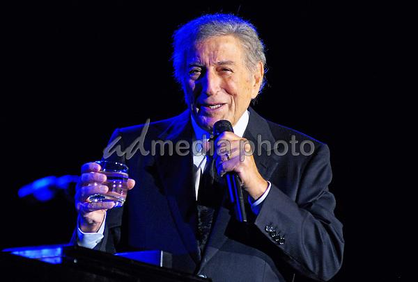 31 July 2020 - Legendary jazz crooner Tony Bennett turns 94 years old August 03/20.  File Photo: An Evening with Tony Bennett (2013) at the Hamilton Convention Centre by Carmen's, Hamilton, Ontario, Canada. Photo Credit: Brent Perniac/AdMedia