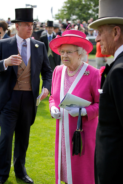 Prince Andrew, Queen Elizabeth II and Prince Philip