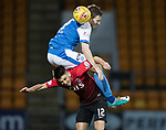 St Johnstone v Kilmarnock…02.12.17…  McDiarmid Park…  SPFL<br />Blair Alston and Greg Taylor<br />Picture by Graeme Hart. <br />Copyright Perthshire Picture Agency<br />Tel: 01738 623350  Mobile: 07990 594431