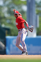 Boston Red Sox second baseman Kervin Suarez (16) during an Instructional League game against the Baltimore Orioles on September 22, 2016 at the Ed Smith Stadium in Sarasota, Florida.  (Mike Janes/Four Seam Images)