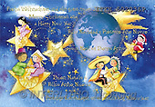 Isabella, CHRISTMAS CHILDREN, naive, paintings, globe, stars, kids(ITKE502036,#XK#) Weihnachten, Navidad, illustrations, pinturas