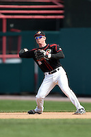 Rochester Red Wings second baseman James Beresford (2) throws to second for the force out during a game against the Louisville Bats on May 4, 2014 at Frontier Field in Rochester, New  York.  Rochester defeated Louisville 12-6.  (Mike Janes/Four Seam Images)