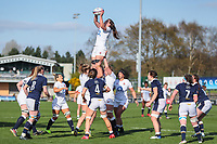Abbie Ward of England during the Guinness Six Nations match between England Women and Scotland Women at Castle Park Stadium, Doncaster, England on 3 April 2021. Photo by Thomas Gadd / PRiME Media Images.