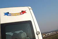 - TAV yard (High Speed Train), the van of workers immigrated from Rumania....- cantiere TAV (Treno Alta Velocità), il furgone di operai immigrati dalla Romania