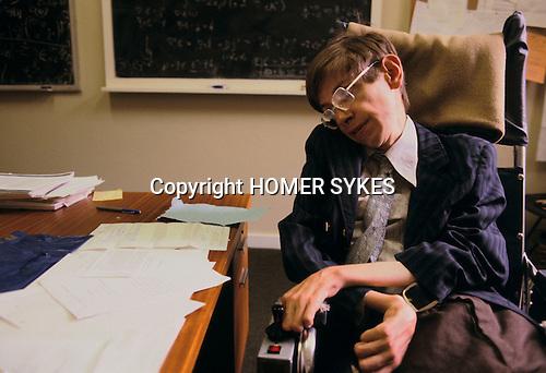 Professor Stephen Hawking 1981 Cambridge University UK 1980s