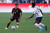 6th June 2021. Denver, Colorado, USA;  Mexico midfielder Carlos Rodriguez (8) takes on Mark McKenzie (15) during the CONCACAF Nations League finals between Mexico and the United States  at Empower Field at Mile High in Denver, CO.