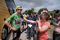 Wout van Aert (BEL/Jumbo - Visma) at the stage start<br /> <br /> Stage 7: Saint-Genix-les-Villages to Pipay  (133km)<br /> 71st Critérium du Dauphiné 2019 (2.UWT)<br /> <br /> ©kramon