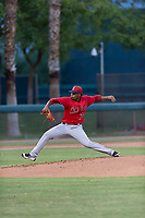 AZL Angels starting pitcher Yoel De Leon (71) delivers a pitch during an Arizona League game against the AZL Dodgers at Camelback Ranch on July 8, 2018 in Glendale, Arizona. The AZL Dodgers defeated the AZL Angels by a score of 5-3. (Zachary Lucy/Four Seam Images)
