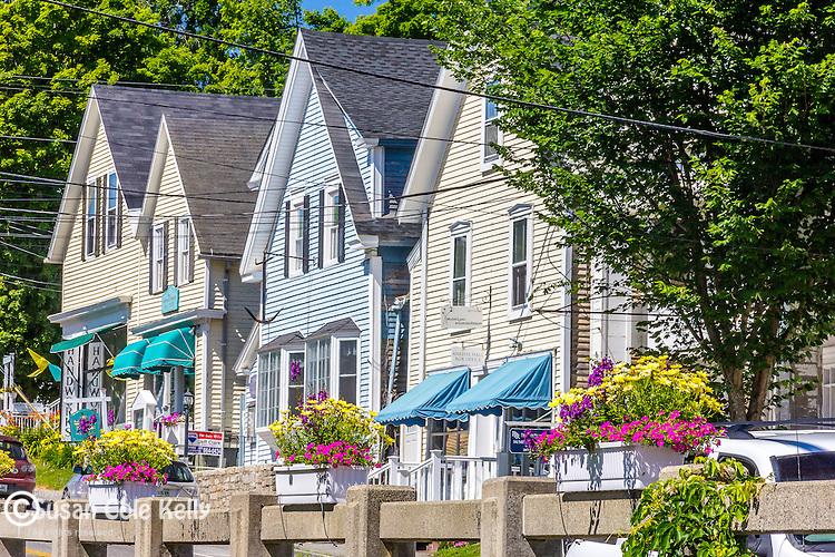 Quaint shops in Blue Hill, Maine, USA