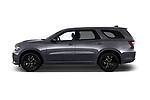 Car driver side profile view of a 2018 Dodge Durango R/T 5 Door SUV